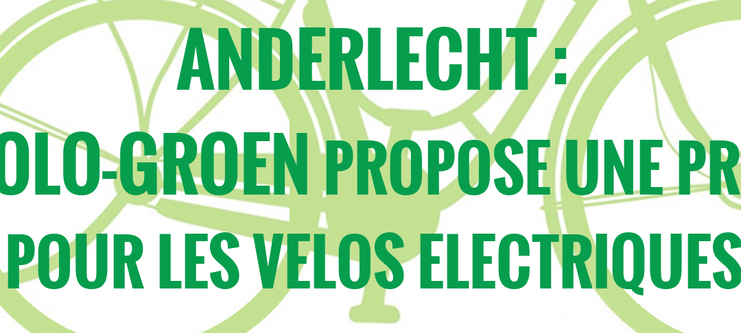 Ecolo-Groen Anderlecht propose une prime pour les vélos électriques